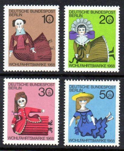 Poštovní známky Západní Berlín 1968 Loutky Mi# 322-25
