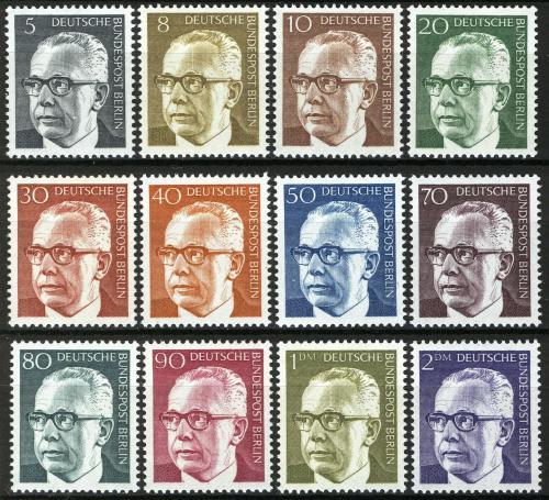 Poštovní známky Západní Berlín 1970 Prezident Gustav Heinemann Mi# 359-70 Kat 12€