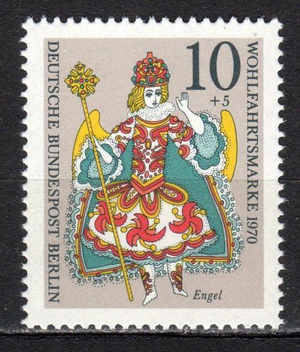 Poštovní známka Západní Berlín 1970 Vánoce Mi# 378