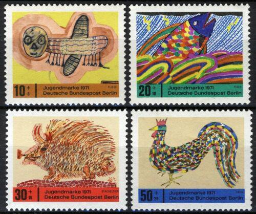 Poštovní známky Západní Berlín 1971 Dìtské kresby Mi# 386-89