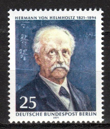 Poštovní známka Západní Berlín 1971 Hermann von Helmholtz, chemik Mi# 401