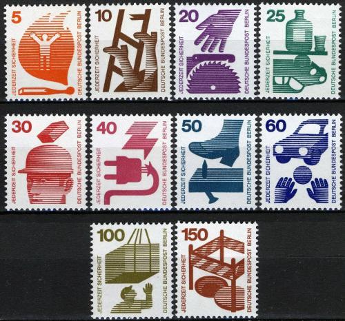 Poštovní známky Západní Berlín 1971 Prevence nehod Mi# 402-11 Kat 17€