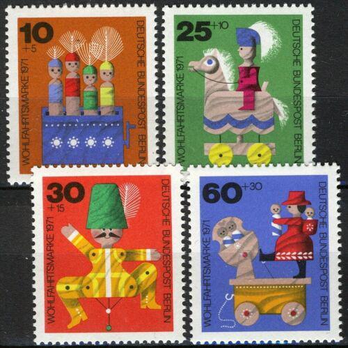 Poštovní známky Západní Berlín 1971 Staré døevìné hraèky Mi# 412-15