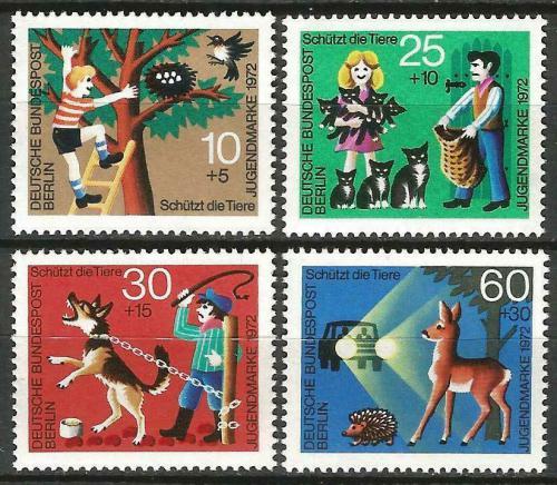 Poštovní známky Západní Berlín 1972 Ochrana zvíøat Mi# 418-21