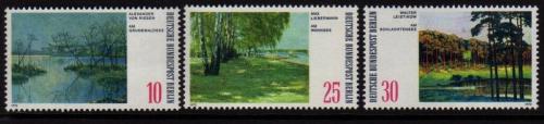 Poštovní známky Západní Berlín 1972 Umìní Mi# 423-25