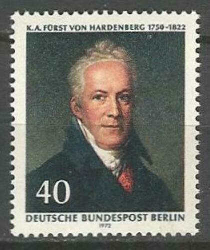 Poštovní známka Západní Berlín 1972 Karl August Hardenberg Mi# 440