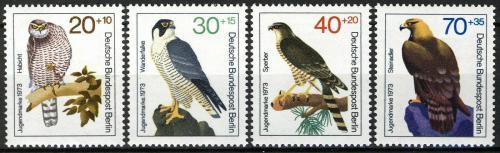 Poštovní známky Západní Berlín 1973 Dravci Mi# 442-45