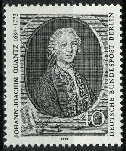 Poštovní známka Západní Berlín 1973 Johann Joachim Quantz, skladatel Mi# 454