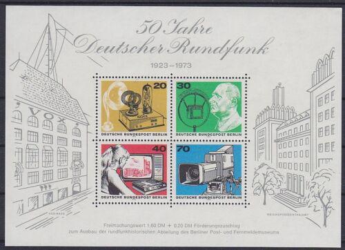 Poštovní známky Západní Berlín 1973 Nìmecké rádio, 50. výroèí Mi# Block 4