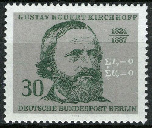 Poštovní známka Západní Berlín 1974 Robert Kirchhoff, fyzik Mi# 465
