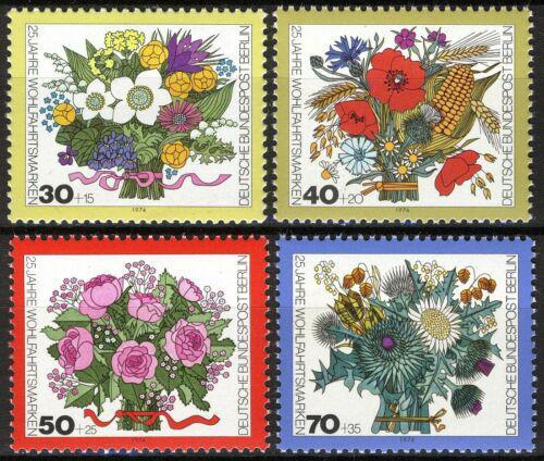 Poštovní známky Západní Berlín 1974 Kytice Mi# 473-76 Kat 5€