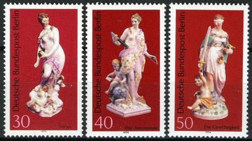 Poštovní známky Západní Berlín 1974 Porcelán Mi# 478-80