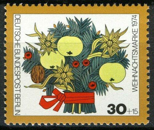 Poštovní známka Západní Berlín 1974 Vánoce, kytice Mi# 481