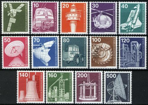 Poštovní známky Západní Berlín 1975 Prùmysl a technika Mi# 494-507 Kat 20€