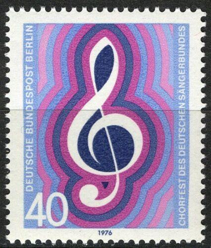 Poštovní známka Západní Berlín 1976 Houslový klíè Mi# 522