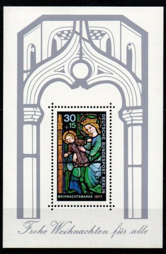 Poštovní známka Západní Berlín 1977 Vánoce Mi# Block 6