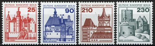 Poštovní známky Západní Berlín 1978-79 Hrady a zámky Mi# 587-90 Kat 7€