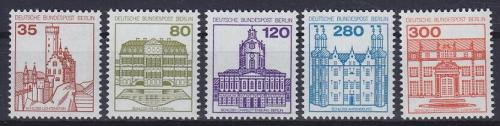 Poštovní známky Západní Berlín 1982 Zámky Mi# 673-77 Kat 11€