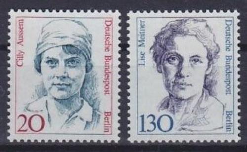 Poštovní známky Západní Berlín 1988 Slavné ženy Mi# 811-12 Kat 6.50€