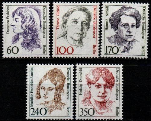 Poštovní známky Západní Berlín 1988 Slavné ženy Mi# 824-28 Kat 18€