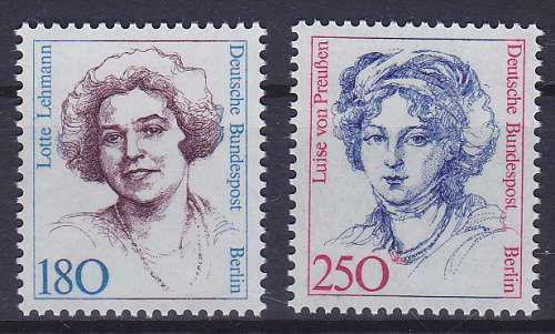 Poštovní známky Západní Berlín 1989 Slavné ženy Mi# 844-45 Kat 14€