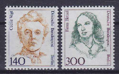 Poštovní známky Západní Berlín 1989 Slavné ženy Mi# 848-49 Kat 16€