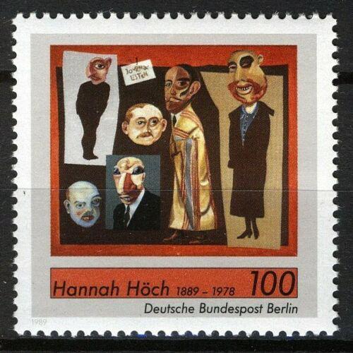 Poštovní známka Západní Berlín 1989 Umìní, Hannah Höch Mi# 857