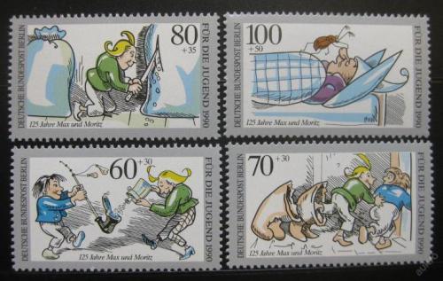 Poštovní známky Západní Berlín 1990 Max a Moritz Mi# 868-71 Kat 12€