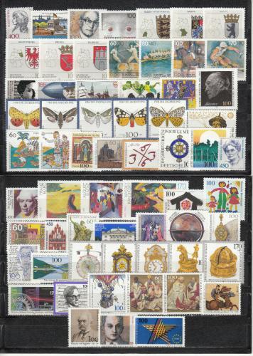 Kompletní roèník Nìmecko 1992 Mi# 1582-1644 Kat 135.70€