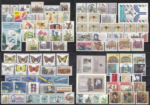 Kompletní roèník Nìmecko 1991 Mi# 1488-1581 Kat 178.40€