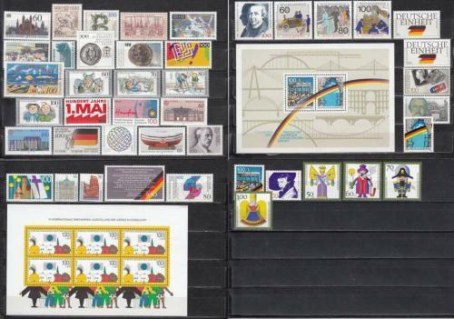 Kompletní roèník Nìmecko 1990 Mi# 1444-87 Kat 102.20€