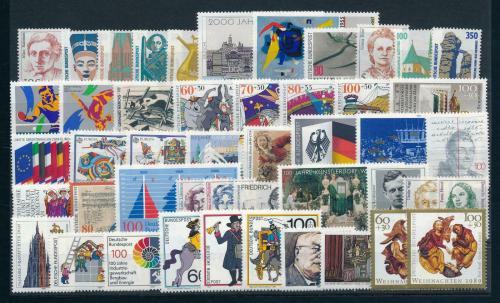 Kompletní roèník Nìmecko 1989 Mi# 1397-1443 Kat 106.10€