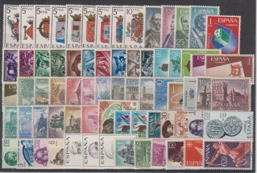 Kompletní roèník Španìlsko 1966 Mi# 1591-1661