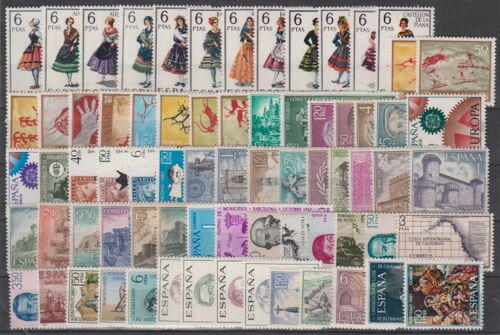 Kompletní roèník Španìlsko 1967 Mi# 1662-1733