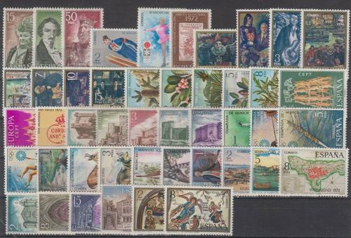 Kompletní roèník Španìlsko 1972 Mi# 1966-2011