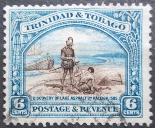 Poštovní známka Trinidad a Tobago 1936 Objev Asfaltového jezera Mi# 118 C