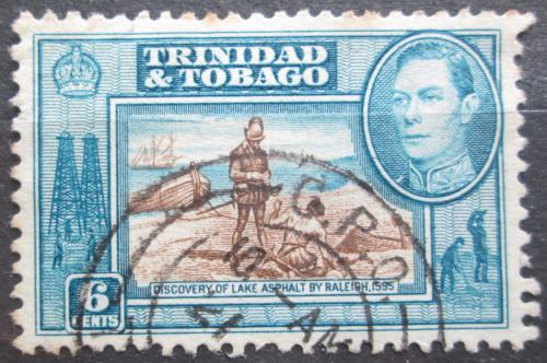 Poštovní známka Trinidad a Tobago 1938 Objev Asfaltového jezera Mi# 138