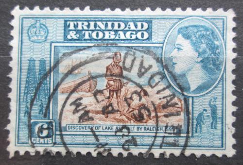 Poštovní známka Trinidad a Tobago 1953 Objevení Asfaltového jezera Mi# 160