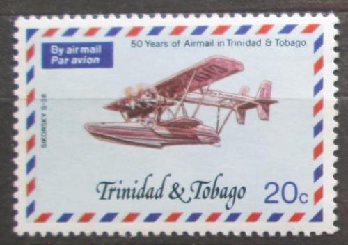 Poštovní známka Trinidad a Tobago 1977 Staré poštovní letadlo Mi# 351 A