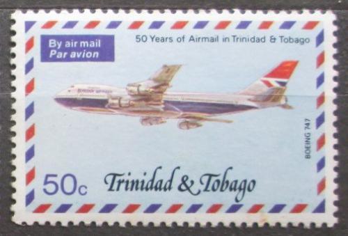 Poštovní známka Trinidad a Tobago 1977 Poštovní letadlo Mi# 354 A