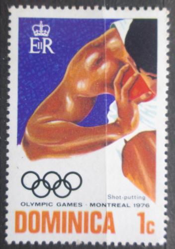 Poštovní známka Dominika 1976 LOH Montreal, vrh koulí Mi# 489