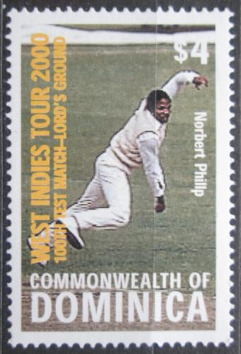 Poštovní známka Dominika 2000 Norbert Philip, kriket Mi# 2936 Kat 4.50€