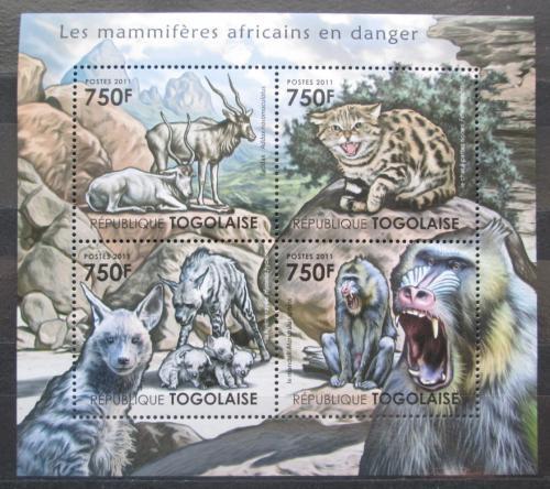 Poštovní známky Togo 2011 Ohrožená fauna Mi# 4132-35 Kat 12€