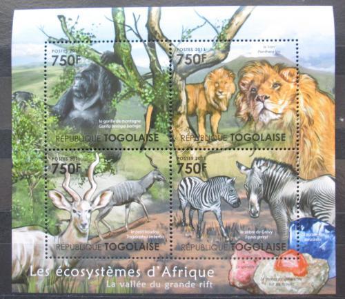 Poštovní známky Togo 2011 Fauna afrického pøíkopu Mi# 4193-96 Kat 12€