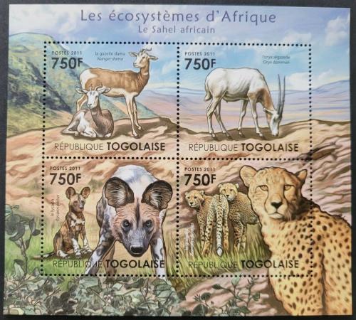 Poštovní známky Togo 2011 Fauna saharské Afriky Mi# 4205-08 Kat 12€