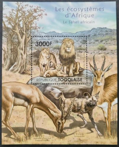 Poštovní známka Togo 2011 Fauna saharské Afriky Mi# Block 653 Kat 12€