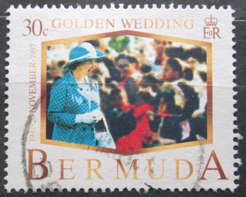 Poštovní známka Bermudy 1997 Královna Alžbìta II. Mi# 727