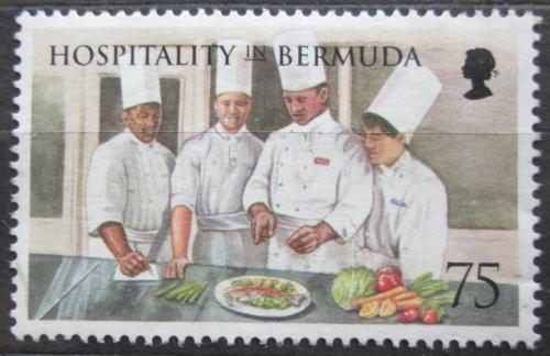 Poštovní známka Bermudy 1998 Hoteloví kuchaøi Mi# 746