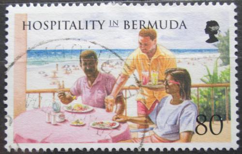 Poštovní známka Bermudy 1998 Obìd v hotelu Mi# 747