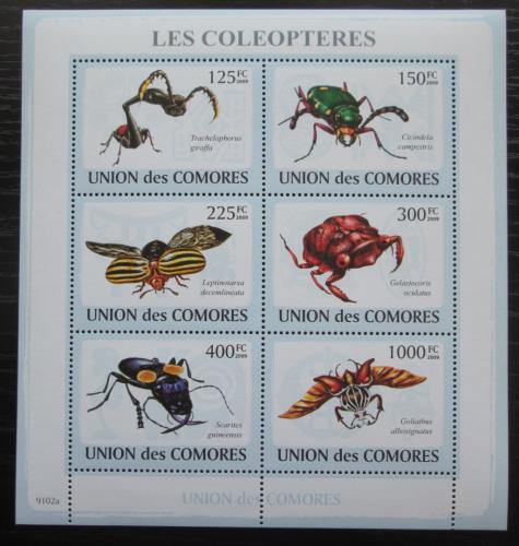Poštovní známky Komory 2009 Hmyz Mi# 2093-98 Kat 11€